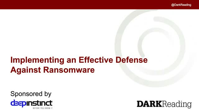 Implementing an Effective Defense Against Ransomware