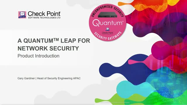 Achieving a Quantum leap in network security