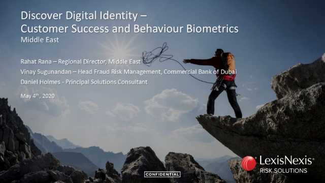 Discover Digital Identity - Customer Success and Behavioural Biometrics