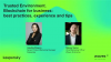 Trusted Environment. Blockchain for business: best practices, experience, tips