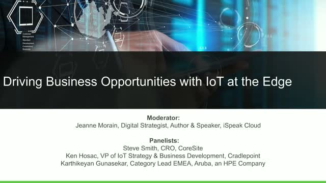 Panel: Driving Business Opportunities with IoT at the Edge