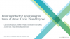 Ensuring effective governance in times of stress: COVID-19 and beyond