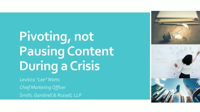 Pivoting, not Pausing Content During a Crisis