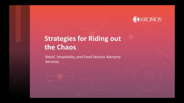 Strategies for Riding out the Chaos