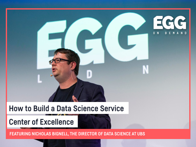 EGG On-Demand: How to Build a Data Science Service Center of Excellence