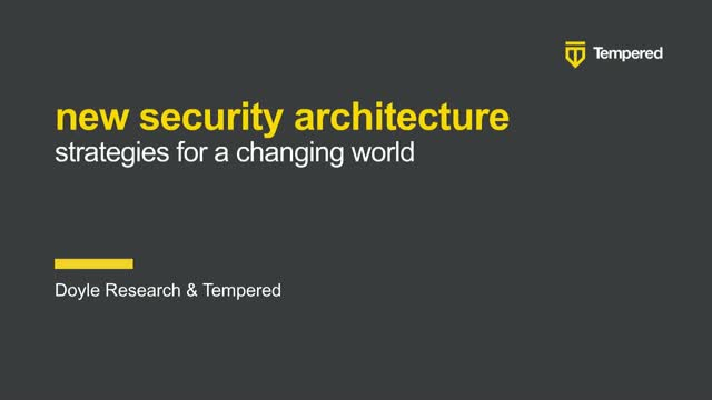 New Security Architecture: Strategies for a Changing World