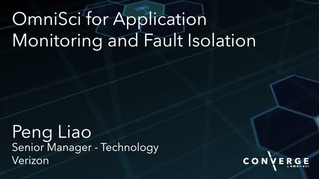 OmniSci for Application Monitoring and Fault Isolation