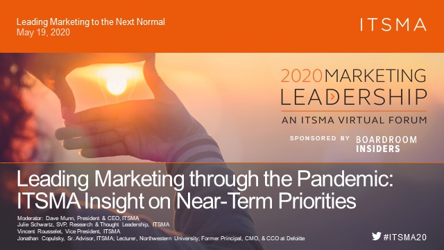 Leading Marketing through the Pandemic: ITSMA Insight on Near-Term Priorities