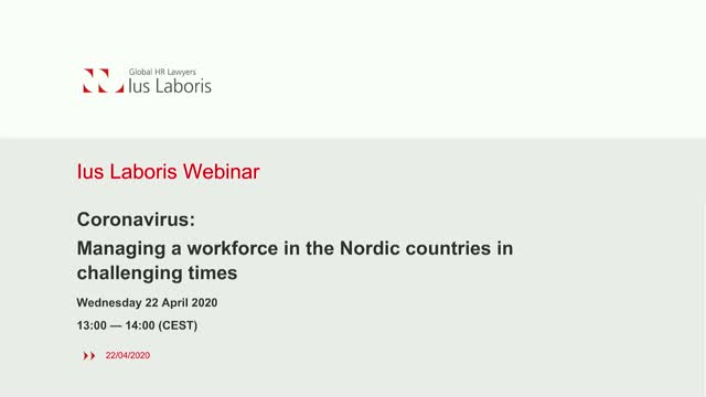 Coronavirus: Managing a workforce in the Nordic countries in challenging times