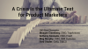 A Crisis is the Ultimate Test For Product Marketers