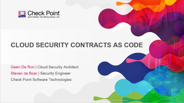 Cloud Security Contracts as Code
