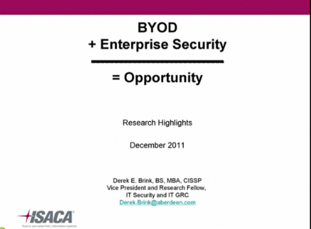 BYOD + Enterprise Security = Opportunity