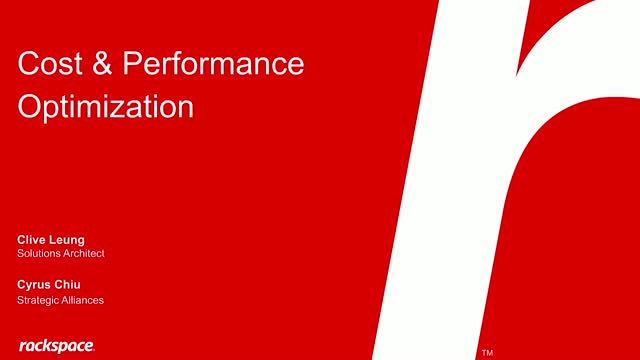 How to Optimize Cost and Performance - Cantonese