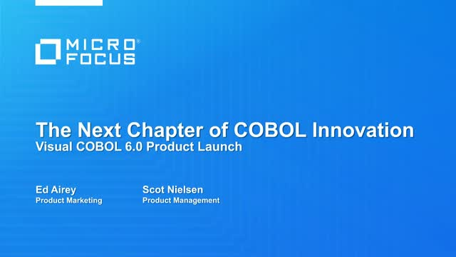New modernization solutions for your Micro Focus COBOL applications