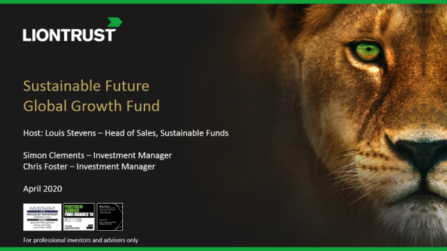 Liontrust Views - Update on Liontrust Sustainable Future Global Growth Fund