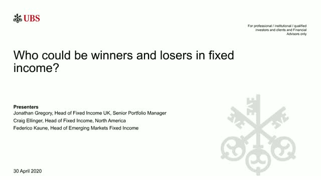 UBS Webinar: Who could be winners and losers in the world fixed income?