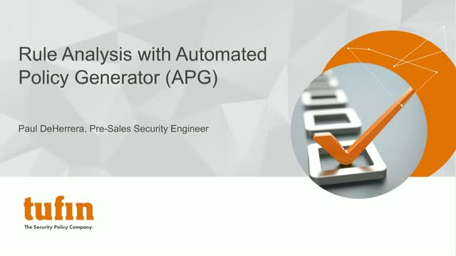 Rule Analysis with Automated Policy Generator (APG)