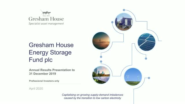 Gresham House Energy Storage Fund plc - Annual Results and Live Webinar Update