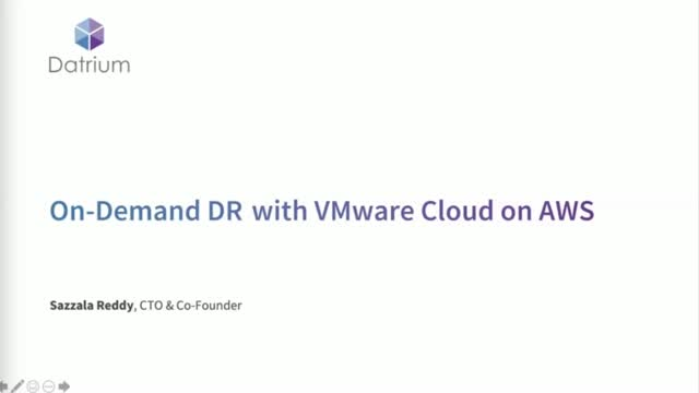On-Demand DR with VMware Cloud on AWS