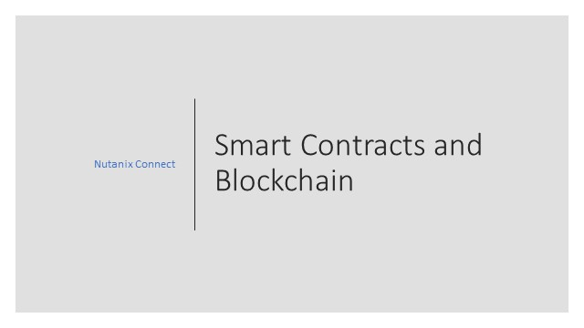 Smart contracts & Block chain