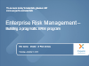 Enterprise Risk Management: Five Steps to Building a Pragmatic ERM Program