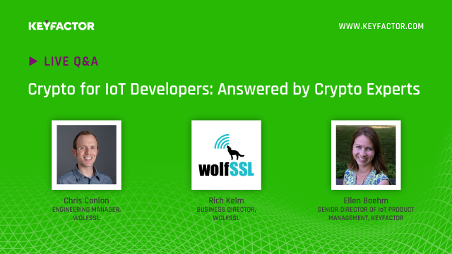 Crypto for IoT Developers: Your Questions Answered by Crypto Experts