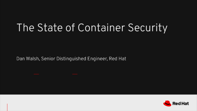 The State of Container Security