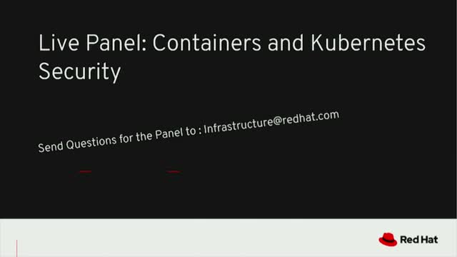 Live Panel: Containers and Kubernetes Security