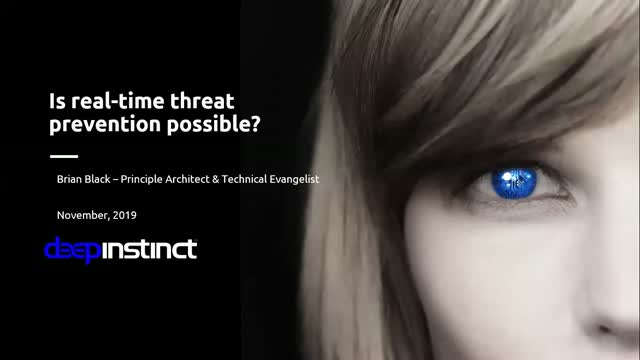 Is real-time threat prevention possible?
