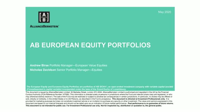 AB European and Eurozone Equities