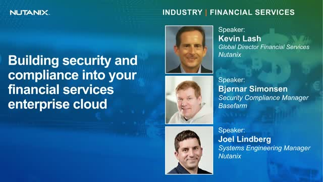 Building security and compliance into your financial services enterprise cloud