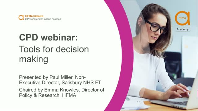 Bitesize CPD webinar: Tools for decision making