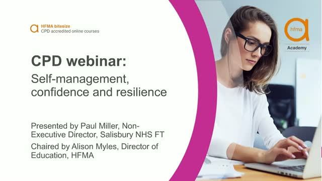 Bitesize CPD webinar: Self-management, confidence and resilience