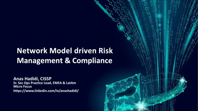 Network Model driven Risk Management & Compliance