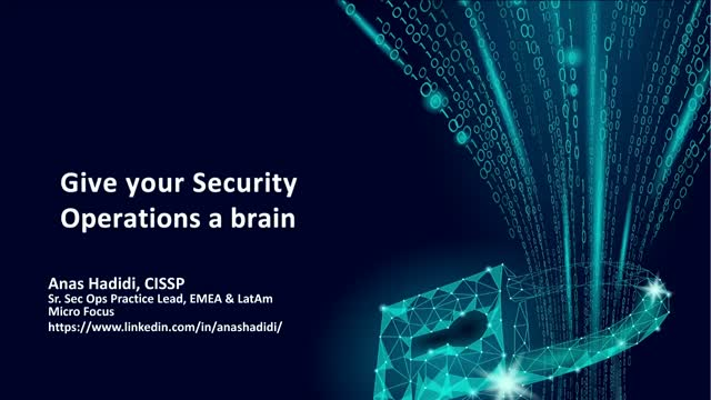 Giving Security Operations a Brain