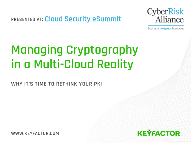 Managing Cryptography in a Multi-Cloud Reality