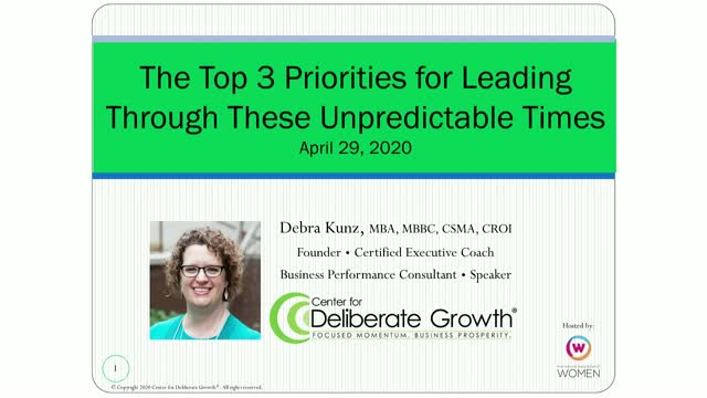 The Top 3 Priorities for Leading Through These Unpredictable Times