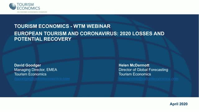European Tourism and Coronavirus: 2020 losses and potential recovery