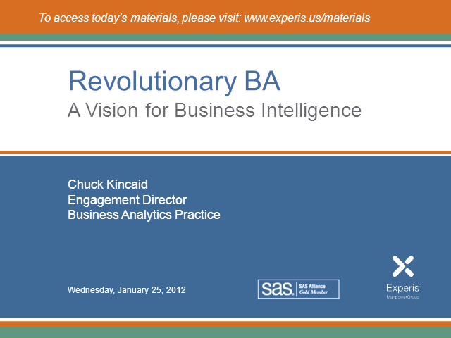 Revolutionary Business Analytics