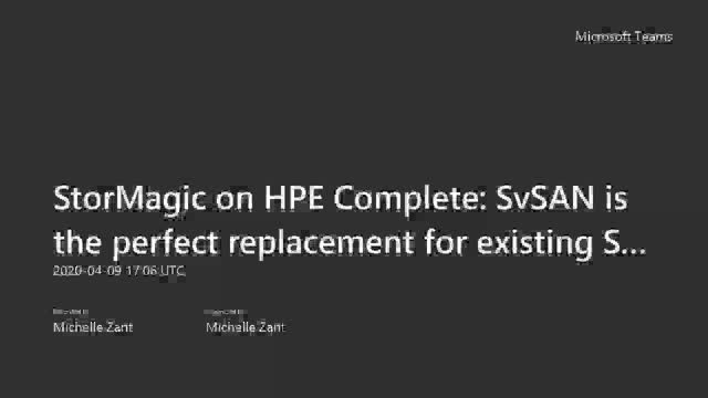 StorMagic on HPE Complete