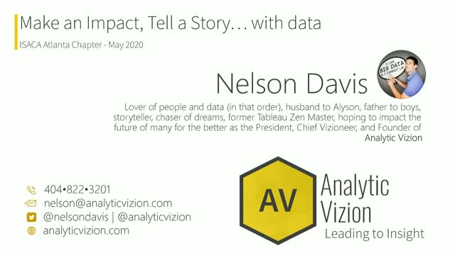 Make an Impact, Tell a Story… with data