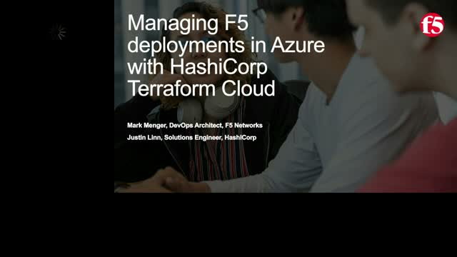 Managing F5 deployments in Azure with HashiCorp Terraform Cloud