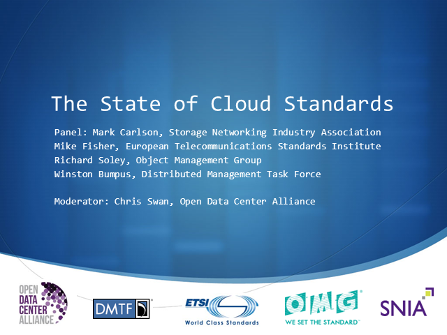 The State of Cloud Standards