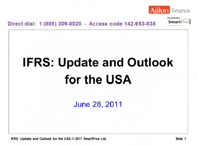 IFRS Update and Outlook for the USA