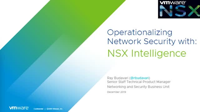 Operationalizing Network Security with NSX Intelligence