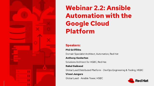 Webinar 2.2: Using Ansible Automation with the Google Cloud Platform
