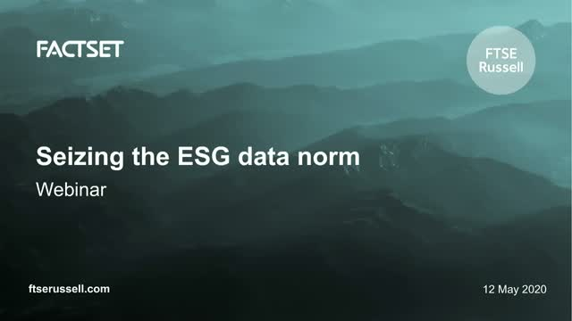 Seizing the ESG data norm. For investors in the APAC region