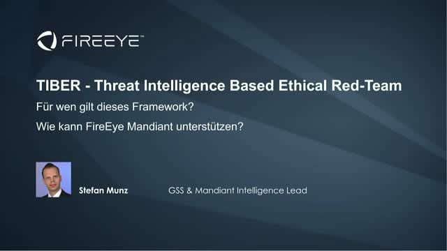 TIBER - Threat Intelligence Based Ethical Red-Team