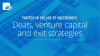 Fintech in the age of uncertainty: Deals, venture capital and exit strategies