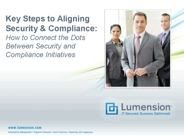 Key Steps To Aligning Security and Compliance